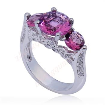 Free U.S. Shipping Amethyst Austrian Crystal Ring 10K Gold Filled Size 7
